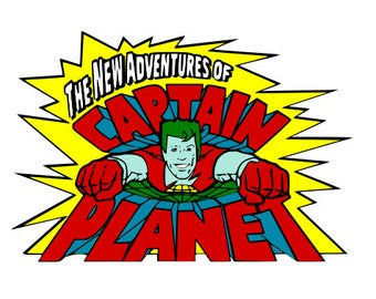 Captain Planet Vintage SVG