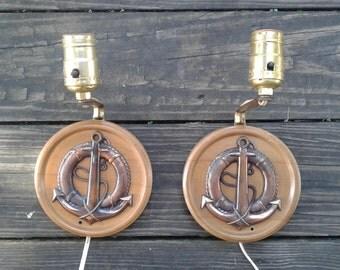 Vintage Anchor Light Fixtures /Sconces