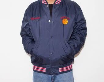 Hawks Basketball, College Jacket, Letterman Jacket, Windbreaker, 90s Jacket, 90s Clothing, 90s, Padded Jacket, Sports, Athletic, Vintage