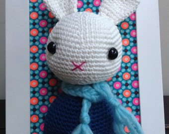Portrait/trophy Bunny crochet