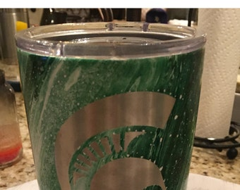 20oz  Michigan state  stainless cup