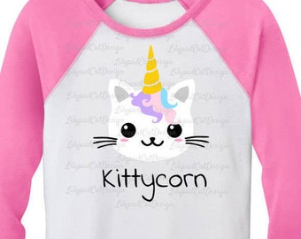 Kittycorn svg, unicorn svg, cat svg, cat unicorn svg, cute svg, birthday shirt, rainbow svg, kitty svg.