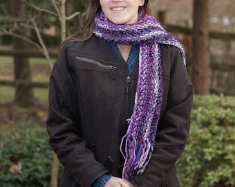 Purple funky scarf