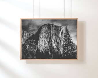 Nordic Mountain Printable, Mountain Print, Minimalist, Black and White, Mountain Range, Printable Art, Nature Landscape, Scandinavian Poster