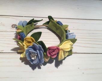 Felt Floral Headband - Felt Flowers - Flower Headband - Felt Flower Headband