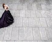 Gothic wedding dress - Dark princess wedding dress - Purple taffeta and black lace corset wedding dress - Red - Blue - Green -  Steampunk