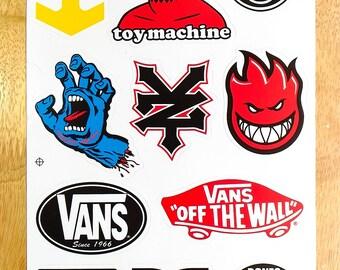 Snowboard Sticker Etsy - Custom die cut vinyl stickers snowboard