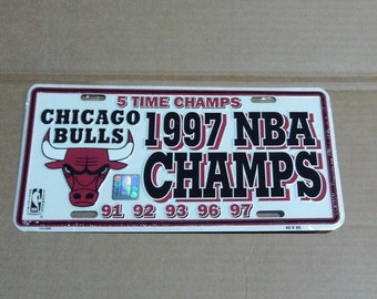 Chicago Bulls 5-Time NBA Champions License Plate