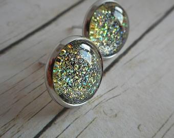 Glitter ear studs