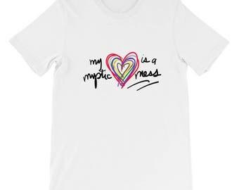 My Heart is a Mystic Mess Mystic Messenger Short-Sleeve Unisex T-Shirt