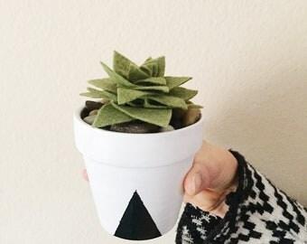 Potted Felt Succulent - Build Your Own