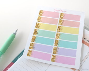 14 Glittery Appointment, Planner Stickers, Pastel, Reminder, Schedule, Appointment, Work, Meeting, Faux Glitter, Sparkly, APP8