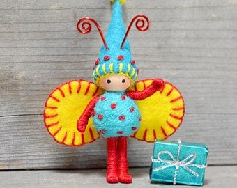 Birthday Bug Bendy Doll Fairy Toy Felt