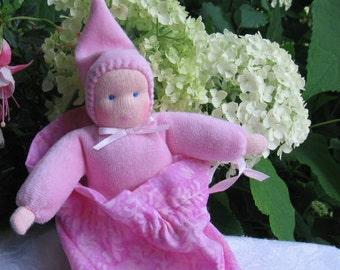 Waldorf Pocket Doll, Waldorf Gnome Doll, Pocket Doll,Small Dolls, 6 inch Doll, Pretend Play, Soft Dolls, Toddler Doll