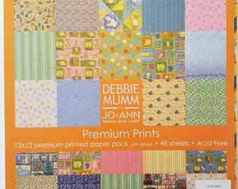Debbie Mumm Premium Prints 12x12 Paper Pack Sparkly & Textured