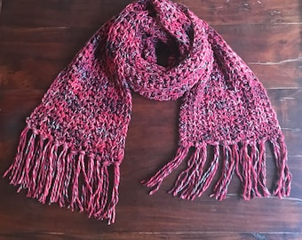 Sale! 50% off Crochet Scarf/ Color: Sparks Mix by Mr.Funky