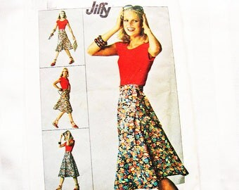 1970s Wrap Skirt Pattern size 14 16 Simplicity Wrap Around Skirt Easy Sewing Pattern UNCUT