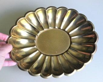 Copper Color Sunflower Pedestal Dish , Copper Sunflower Footed Dish , Flower Shaped Bowl Dish , Copper Plated Serving Ware , Retro Copper