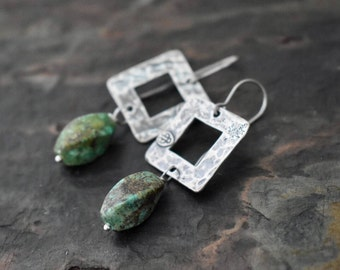 Santa Fe Style Turquoise Earrings