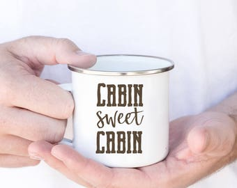 ORDER BY DEC 7 - Cabin Sweet Cabin - Cabin Gifts, Camp Fire Mug, Cabin Mug, Rustic Camp Fire Mug, Cabin Decor, Rustic Cabin Decor
