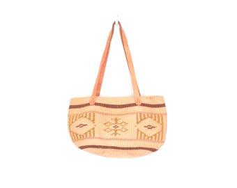 Vintage Market Bag * Woven Sisal Tote * Vintage Woven Bag * 80s Purse