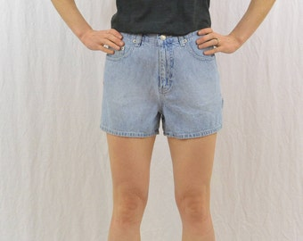 Vintage Light Denim Workwear Shorts, Size XS, Carpenter Shorts, Grunge, 90's Clothing, Farmer, Gardener