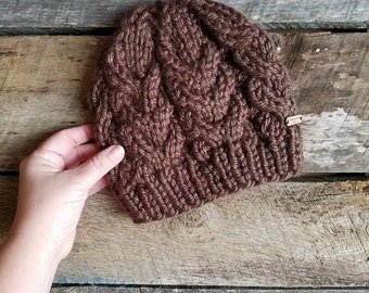 Made to order - Chunky Cable Beanie - Adult