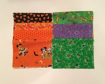 "10 Piece Halloween Fabric Set 12"" x 8"" - Item # H12"