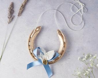 GOLD Lauren Vintage Locket Lucky Wedding Horseshoe