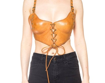 Molded Leather Bustier