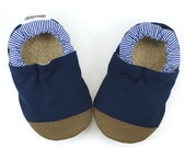 blue baby shoes toddler shoes navy blue booties baby boy gift soft sole shoes vegan baby non slip shoes elastic baby booties blue moccasins