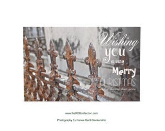A Fleur de Lys Christmas Greeting Cards