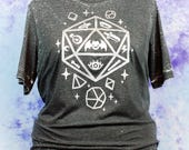 Jelly Roll Polyhedral Dice D20 Graphic Tee Fairy Kei Pastel Goth Creepy Cute