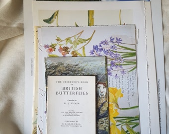 Nature Ephemera Pack of 15 items. Book pages. Book pages art. Smash book ideas. Smash book page ideas. Junk Journals. Diary of an Edwardian