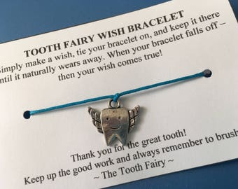 Tooth Fairy Wish Bracelet - Tooth Fairy Gift - Lost Tooth - Tooth Fairy Present - Wishing Bracelet - Fairy Wish Bracelet
