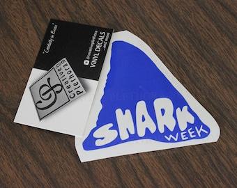 """Shark Fin decal 3.5"""" x 3.4"""" custom laptop window car shark week decal sticker"""
