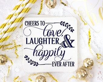 Wedding Coaster, Rustic Wedding Favor, Personalized Coasters, Party Coaster, Custom Coaster, Drink Coaster, Bar Coaster, Wedding Favors