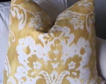 Yellow Floral Ikat