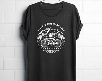 woman Bicycle Tshirt, Bike Tshirt, Cycling Gift, Cycling Shirt, Bike Shirt, Bike Gift, Cycling T Shirt, For Dedicated Cyclist