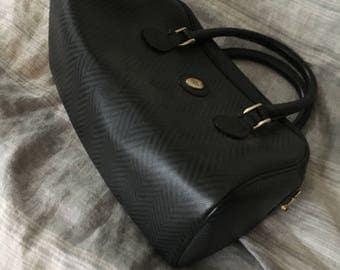 Mark Cross herringbone speedy bag - vintage