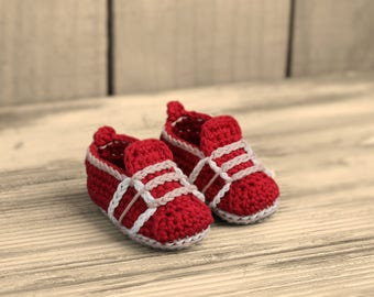"Baby Boy Crochet Pattern sneakers, Baby Crochet Shoes ""Auroch Sneaker""  PATTERN ONLY"