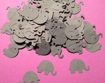 Grey Elephant Confetti, Decoration, Cutout, Die Cuts