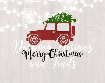 DIGITAL DOWNLOAD merry christmas svg - christmas truck svg - christmas jeep svg - jeep svg - christmas svg - silhouette - cricut - svg files