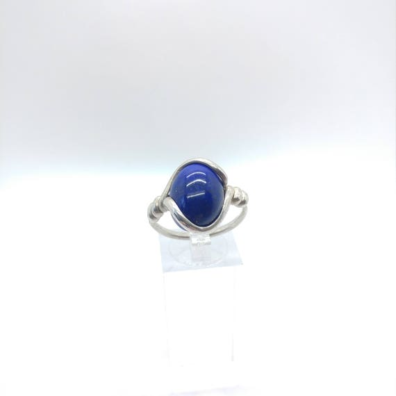 Lapis Lazuli Ring | Sterling Silver Ring Sz 9.25 | Blue Stone Ring | Dark Blue Stone Ring | Blue Lapis Ring | Gemstone Ring