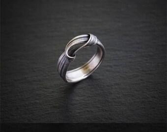 Silver Rowan Ring - Elven Ring - Art nouveau ring - Boho ring - Silver ring