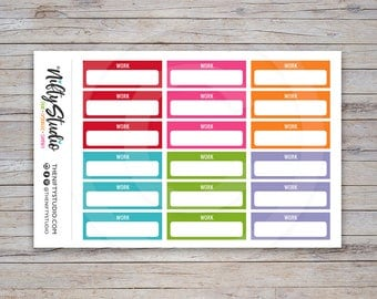 Work Planner Stickers | Planner Stickers | The Nifty Studio [169]