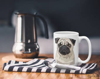Pug Mug, Pug Dog Mug, Pug Gift, Pug Christmas Gift, Pug Birthday Gift, Dog Breed Mug, Dog Lover Mug, Pug Holiday Gift, Pug Memorial Gift