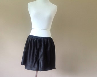 2X / Satin Tap Pants / Black / Plus Size Lingerie / FREE USA Shipping