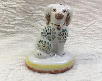William Kent Porcelain Staffordshire Dog Figurine, Spaniel Figurine, Staffordshire Dog, William Kent Dog, Floral Spaniel Figurine
