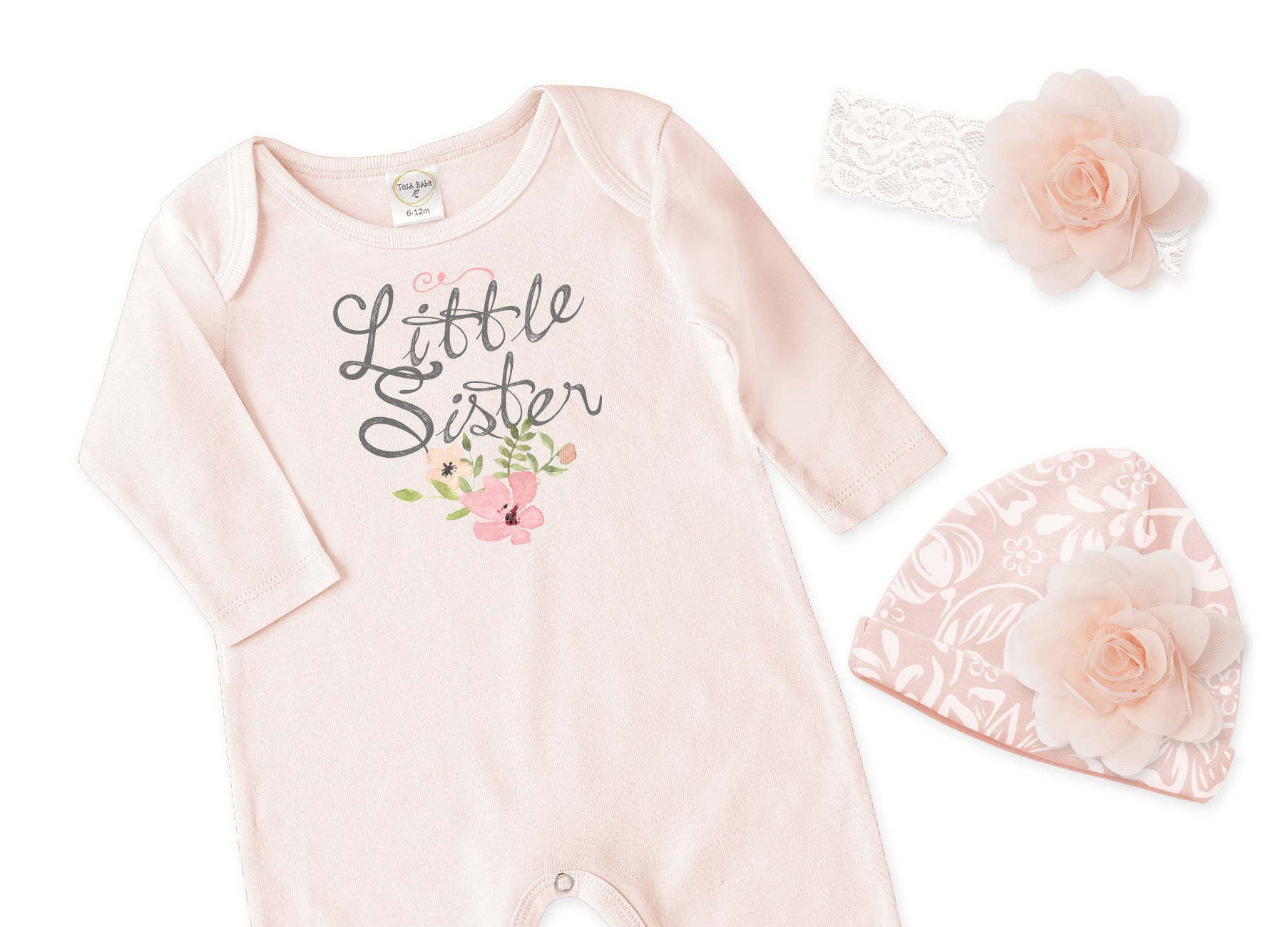 b36fe89925a Little Sister Newborn Girl Coming Home Outfit